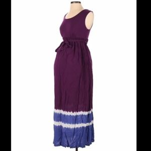 Liz Lange maternity maxi dress purple - size XS